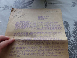 13/9. 146,  Lettre De 8 Pages Pour Le Maire De Mirande, Gers, écrit Par Jacques Bernès, 1949 - Non Classificati