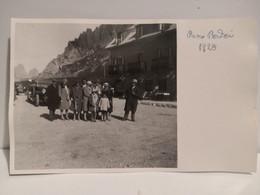 Italy Italia Postcard Foto Trentino PASSO PORDOI 1928 Persone Da Identificare - Other Cities