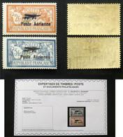 N° PA 1+2 SALON MARSEILLE Neuf N* TB Cote 500€ Signé Calves + Certificat - 1927-1959 Mint/hinged