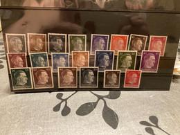 Sur Carte Hawid Lot 21 Timbres Neufs Hitler Surchargés Ostland - Unused Stamps