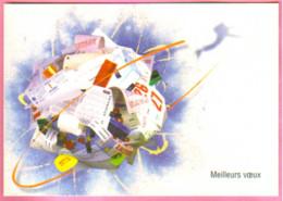 """Carte Postale """"Cart'Com"""" Série """"Publicité Pour Cart'Com"""" - Meilleurs Voeux (boule De Feuilles De Calendriers) - Advertising"""
