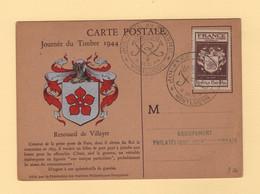 Journee Du Timbre 1944 - Montlucon - Exposiciones Filatelicas