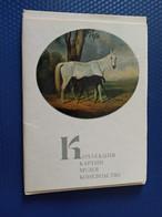 OLD USSR PC.  HORSE IN ART - Old Russian Color Postcard Set - FULL 15 PCs SET 1973 - Horses