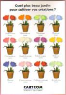 """Carte Postale """"Cart'Com"""" Série """"Publicité Pour Cart'Com"""" - Quel Plus Beau Jardin... (pots De Fleurs) - Advertising"""