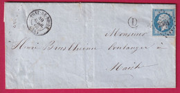 N°14B PC 2504 PONT DE ROIDE DOUBS BOITE RURALE D DAMBELIN POUR MAICHE - 1849-1876: Periodo Clásico