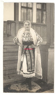 №01 From The Graet War Era 1917 / RARE AUTHENTIC ROMANIAN FOLKLORE DRESS Picture Young Romanian Woman - Ohne Zuordnung