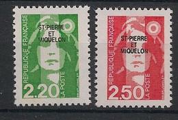 SPM - 1991 - N°Yv. 552 à 553 - Marianne De Briat - Paire - Neuf Luxe ** / MNH / Postfrisch - Neufs
