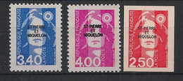 SPM - 1992 - N°Yv. 555 à 557 - Marianne De Briat - Série Complète - Neuf Luxe ** / MNH / Postfrisch - Neufs
