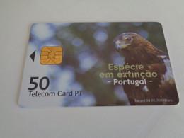 Phonecard Telécarte Telecom Card PT 50 Águia Real Tiragem 30.000 - Aquile & Rapaci Diurni
