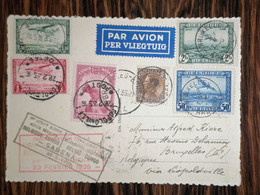 Congo Belge / 1er Départ De Service Aérien Belgique Congo Par SABENA 1935 Via Léopoldville - Airmail: Covers