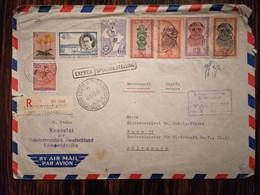 Congo Belge / Recommandé Exprès De Léopoldville-Aérogare Vers Bonn (Allemagne) / Lettre Grand Format - Airmail: Covers