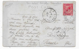 Carte De NEW-YORK 1914 Timbre GB Oblitération TRANSATLANTIC POST OFFICE - Correo Marítimo
