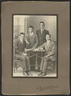 MACEDONIA USKUB SKOPJE Men Atelier BAUBIN - Cabinet Photo - 11 X 15 Cm (see Sales Conditions) 04528 - Alte (vor 1900)