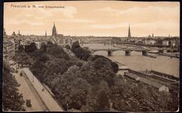 Deutschland - 1917 - Postkarte - Frankfurt Am Main Vom Schaumainkai - A1RR2 - Frankfurt A. Main