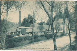 Bourganeuf (87 Haute Vienne) Usine De Papèterie De La Roche - édit. BL N° 975 Bleutée Circulée FM - Autres Communes