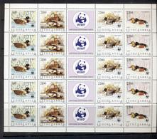 Yugoslavia 1989 WWF Birds, Ducks Sheetlet MUH - Unused Stamps