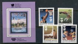 Yugoslavia 1988 Summer Olympics Seoul + MS MUH - Unused Stamps
