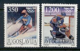 Yugoslavia 1988 Winter Olympics Calgary MUH - Unused Stamps