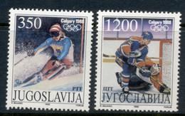 Yugoslavia 1988 Winter Olympics Calgary CTO - Used Stamps