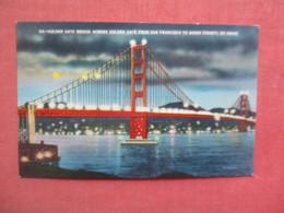 Night View  Golden Gate Bridge   San Francisco  - California       Ref 5179 - San Francisco