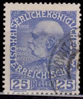 Austria 1908-16, Franz Joseph II, 25h, Used - Used Stamps