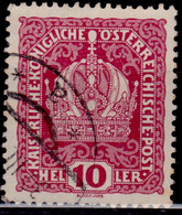 Austria 1916-1918, Austrian Crown, 10h, Sc#148, Used - Used Stamps