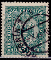 Austria, 1916,  Coat Of Arms, 50h, Used - Used Stamps