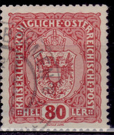 Austria, 1916, Coat Of Arms, 80h, Used - Used Stamps
