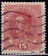Austria 1917-18, Emperor Karl, 15h, Sc#168, Used - Used Stamps