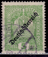 Austria, 1918, Coat Of Arms,overprint, 5h, Used - Used Stamps