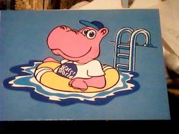 LLORET DE MAR : Water World - Parc Aquatic IPPOPOTAMO HUMOR N1986 IF9984 - Hippopotamuses