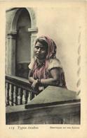 Types Arabes   Mauresque  Sur Son Balcon Colorisée RV - Women