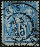 -Sage N°101. Type II  Ob  ( CAD ) .PARIS DEPART - 1876-1898 Sage (Type II)