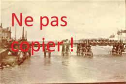 PHOTO FRANCAISE - LE PONT PROVISOIRE A PONT SAINTE MAXENCE PRES DE CREIL OISE - GUERRE 1914 1918 - 1914-18