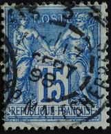 -Sage N°101. Type II  Ob  ( CAD ) .PARIS BD MALESHERBES 1898. ( Bur 3 ) - 1876-1898 Sage (Type II)