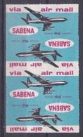 5 Vignette Cinderella Sabena Avion Airplane Aircraft - Unclassified