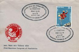 FIRST NEPAL PAEDIATRICS CONGRESS Commemorative Cover 1981 - Otros