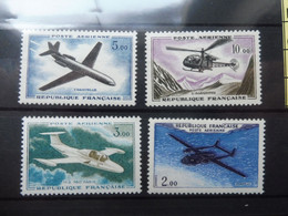France Frankrijk Poste Aerienne Vlug Neuf ** Mnh Parfait Numero 38/41 - 1927-1959 Mint/hinged