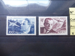France Frankrijk Poste Aerienne Vlug Neuf ** Mnh Parfait Numero 21/22 - 1927-1959 Mint/hinged