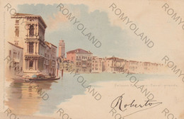 CARTOLINA  VENEZIA,VENETO,PALAZZO REZZONICO-CANAL GRANDE,BELLA ITALIA,RELIGIONE,CULTURA,GONDOLE,STORIA,VIAGGIATA 1898 - Venezia