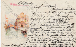 CARTOLINA  VENEZIA,VENETO,CHIESA S.GIOVANNI E PAOLO,BELLA ITALIA,RELIGIONE,CULTURA,GONDOLE,STORIA,VIAGGIATA 1899 - Venezia