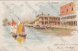 CARTOLINA  VENEZIA,VENETO,IL MOLO,BELLA ITALIA,RELIGIONE,CULTURA,GONDOLE,STORIA,MEMORIA,IMPERO ROMANO,VIAGGIATA - Venezia