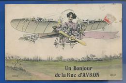 PARIS 20°  Un Bonjour De La Rue D'AVRON    écrite En 1919 - District 20