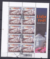 2 Scans Feuillets Complets 3275 3276 Lidje Todi Liège Toujours - Used Stamps
