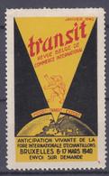 Vignette Cinderella Transit Revue Belge De Commerce Internationale - Unclassified