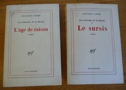 LES CHEMINS DE LA LIBERTE De Jean-Paul SARTHE (2 TOMES) - Editions NRF / Gallimard - Other