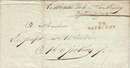 """1812 - Lettre De 79 /NAPOLEON ( Vendée ) 39 X 9 Mm Rouge En Franchise """" Le Maire De La Commune De Nesmy - 1801-1848: Precursori XIX"""