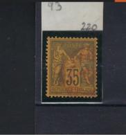 Sage N° 93 Avec Oblitération Cachet à Date Rouge TTB , Voir Scan ! LOT 213 - 1876-1898 Sage (Type II)