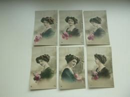 Beau Lot De 18 Cartes Postales ( 3 Series De 6 Cartes ) De Fantaisie Femme   Mooi Lot Van 18 Postkaarten Fantasie - 5 - 99 Cartes