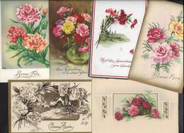 FLEURS - OEILLETS - LOT DE 50 CARTES  FORMAT 9X14 DIVERSES - 5 - 99 Cartes